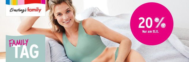 Ernsting's family: Family Tag am 15.11.
